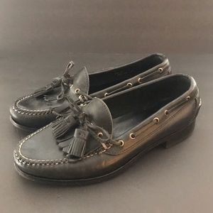 Vtg POLO Ralph Lauren Bench Made Black Loafers 8.5